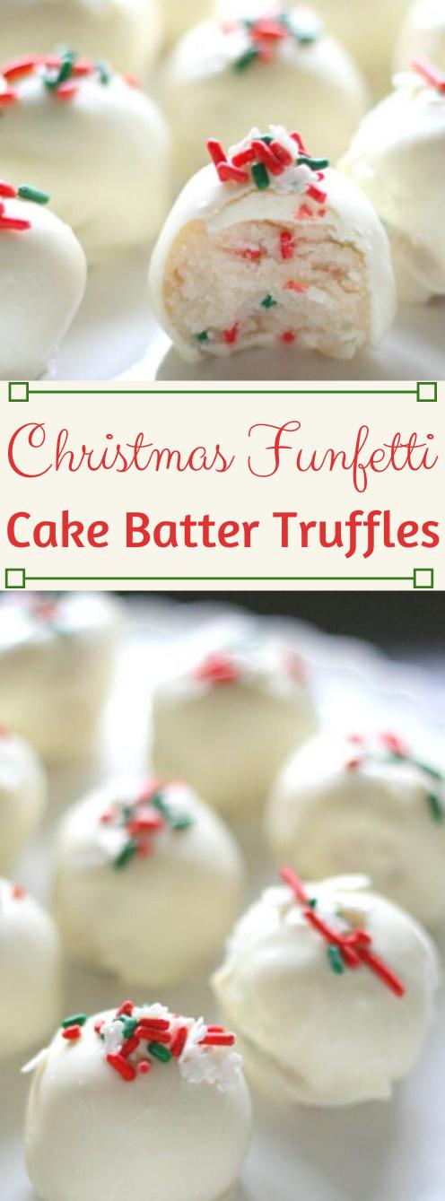 CHRISTMAS CAKE BATTER TRUFFLES #cakes #batter #truffles #desserts #diet