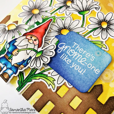 Gnome One Like You Card by Samantha Mann for Newton's Nook Designs, Gnome, Thank You Card, Distress Inks, Ink Blending, Cards, Card Making, Garden #newtonsnook #newtonsnookdesigns #gardengnome #gnome #distressinks #inkblending #cards