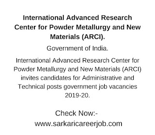arci recruitment 2019 for various posts vacancy 2019-20.