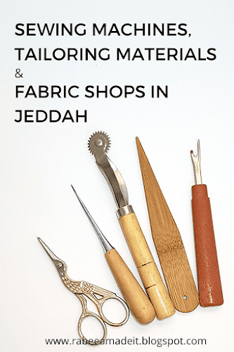 sewing machine, tailoring materials and fabric shops in jeddah rabeea made it