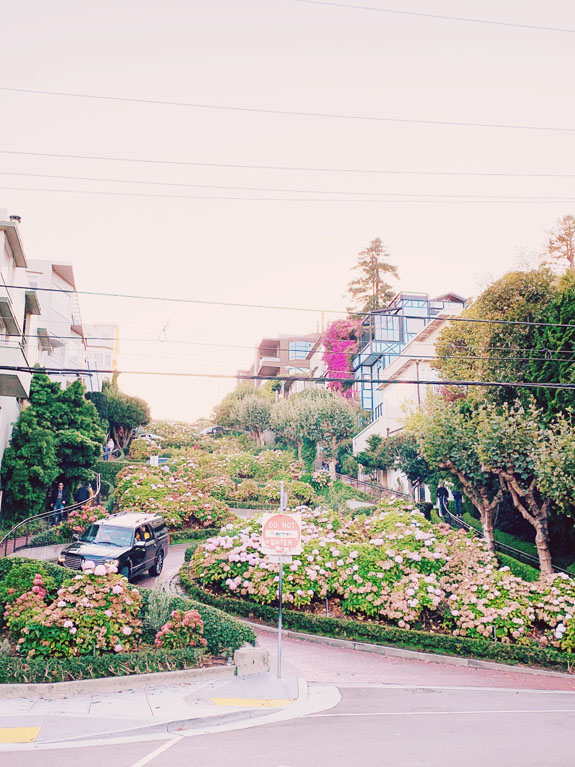 "San Francisco Bucket List - walk or drive down Lombard Street, aka the ""crookedest street in the world"""