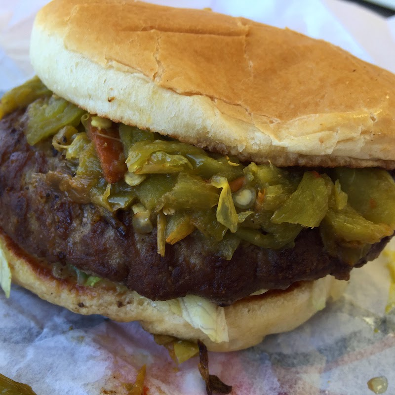Green chile Lotaburger at Blake's Lotaburger in Las Cruces
