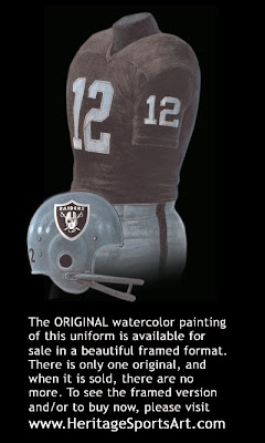 Oakland Raiders 1967 uniform