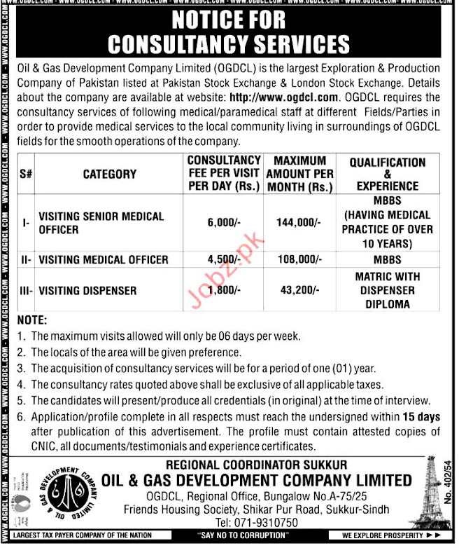 New Jobs in Oil And Gas Development Company Limited OGDCL 2021