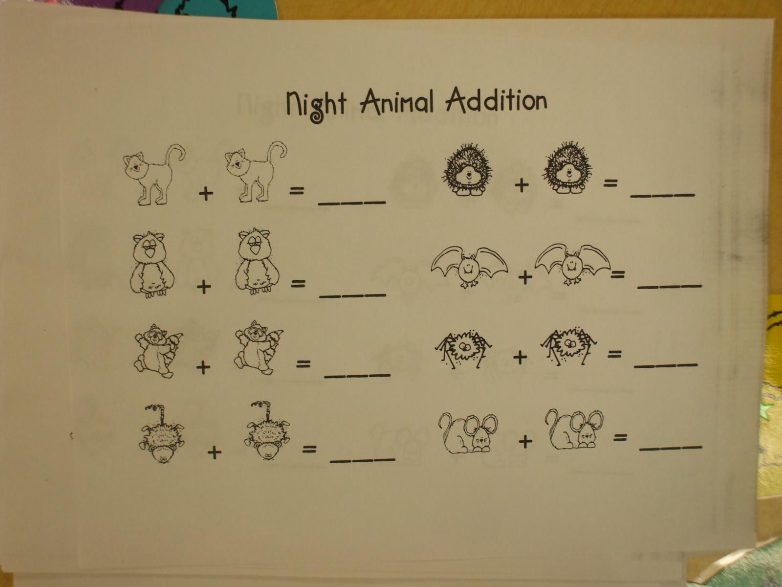 Mrs Huff S Kinderblog Lots Of Night Animals And