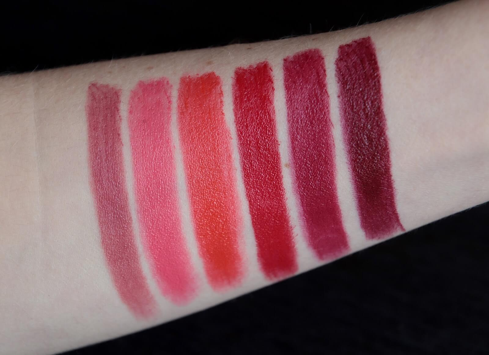 chanel rouge allure intense swatch 807 817 827 837 847 857 swatch