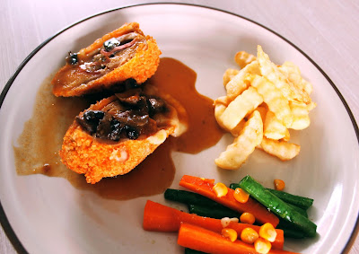 Chicken Cordon Bleu salah satu menu western food