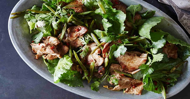 Stir-Fried Pork With Eggplant, Chile, And String Beans Recipe