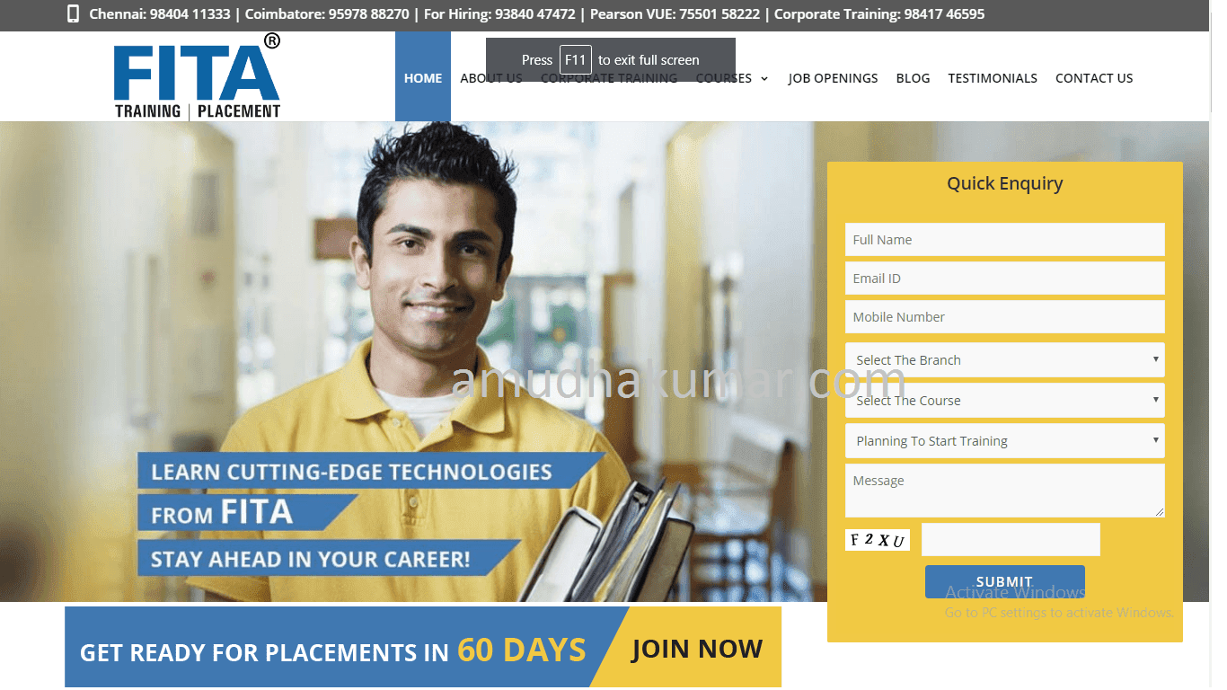 FITA Digital Marketing Training Institute in Chennai - Amudhakumar