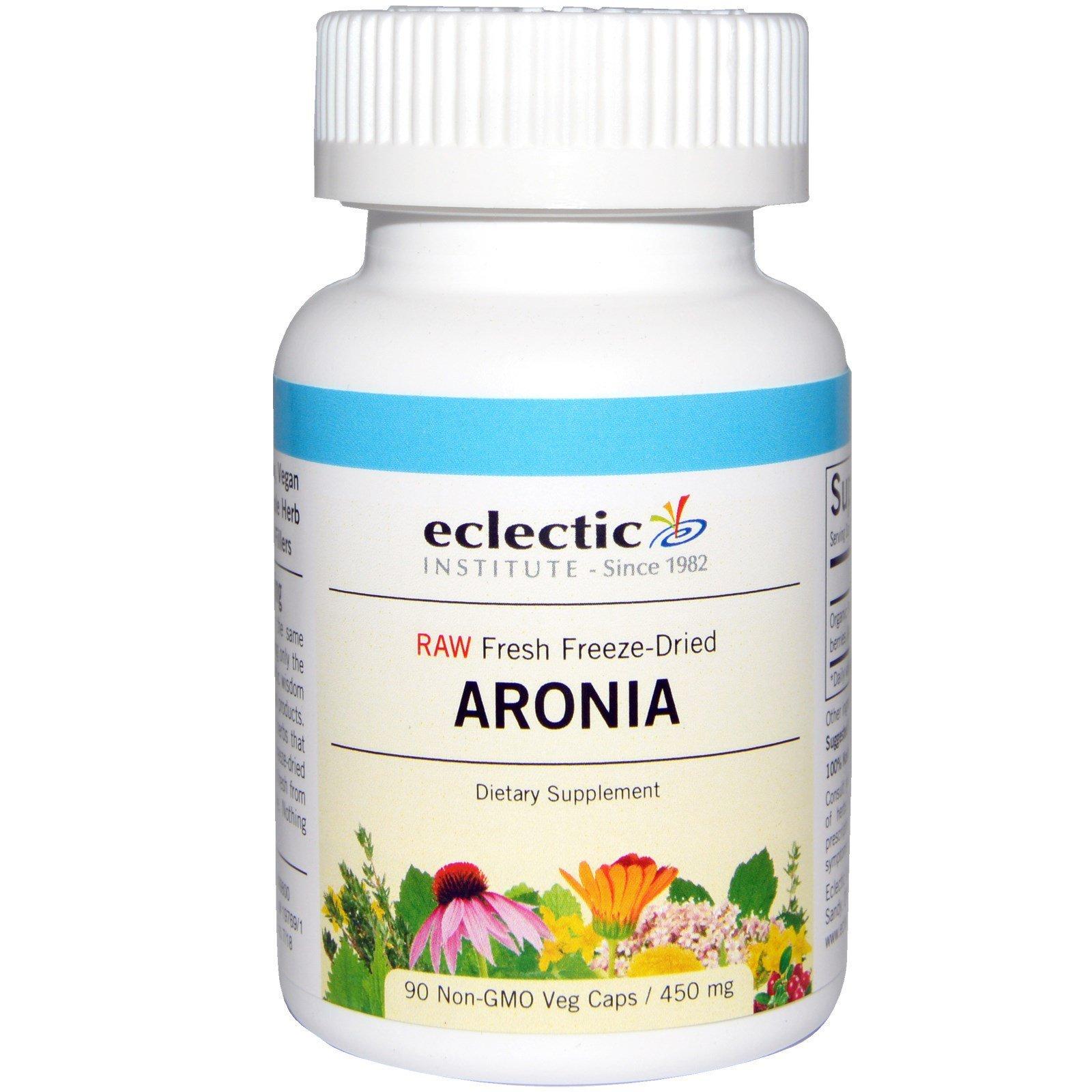 Eclectic Institute, Арония, 450 мг, 90 растительных капсул