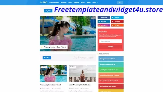 Grid In Seo Pro Blogger Template Free Download.