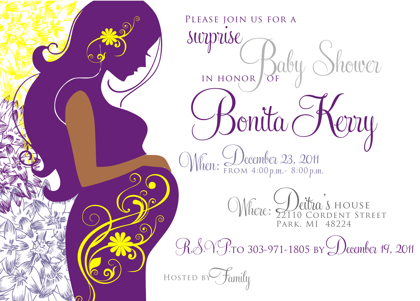 Signatures by Sarah: Baby shower invite and stationery for ...