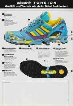 Original Adidas Zx 8000 C Aqua Vintage Werbung