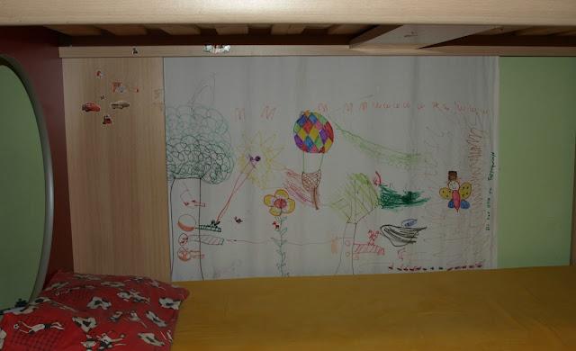 Ζωγραφίζουμε τη κουρτίνα του δωματίου μας!