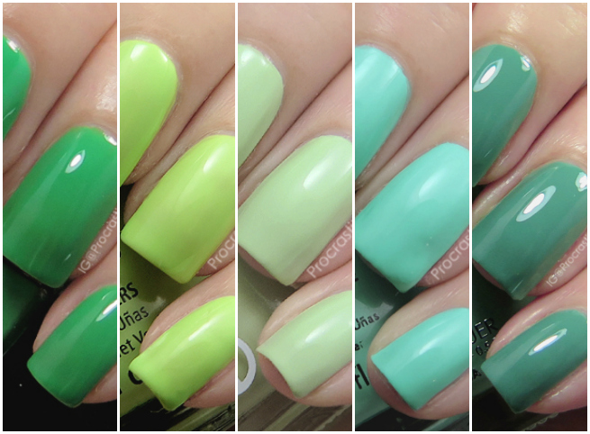 My favourite green polishes