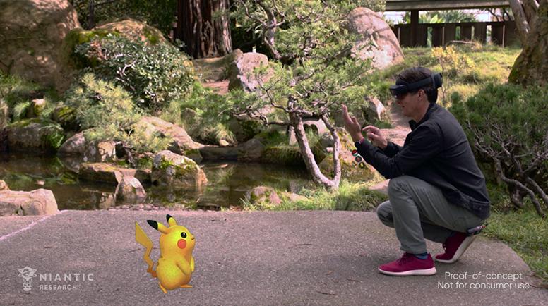 Pokémon GO Realidade Aumentada Microsoft