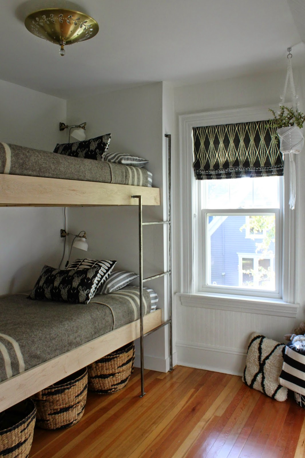 Modern jane bunk room reveal - Loft beds for small rooms ...