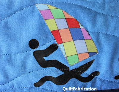 quilted wind surfer