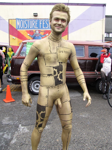 Student sexy image of naked body paint of male
