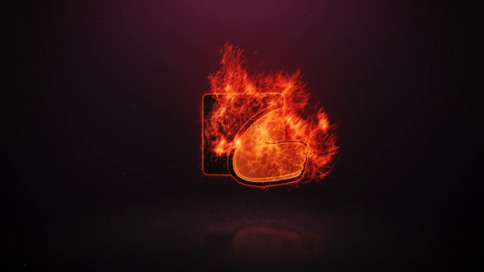 Burning Logo Reveal after effect template