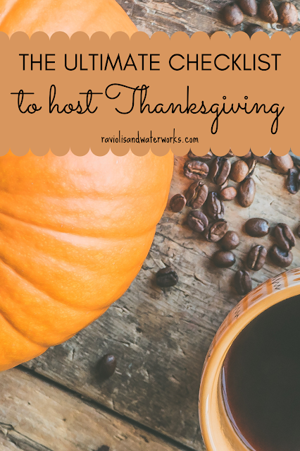 the only checklist that you'll need to host thanksgiving