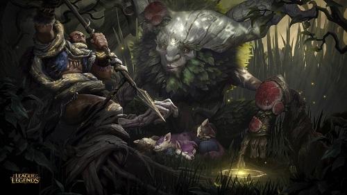 Tướng Ivern giả hình hài nửa người nửa cây, là 1 vị thiện thần đưa về sự sống và kiến thức