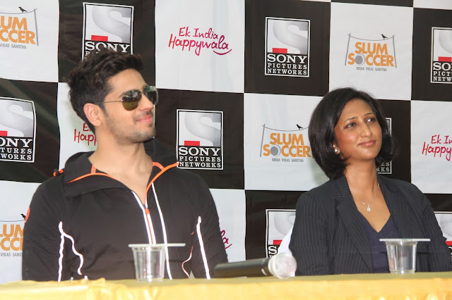 (From L to R) Bollywood Actor Sidharth Malhotra and Smriti K Singh- CHRO, Sony Pictures Networks India at The National Inclusion Cup - A CSR Initiative by Sony Pictures Networks -