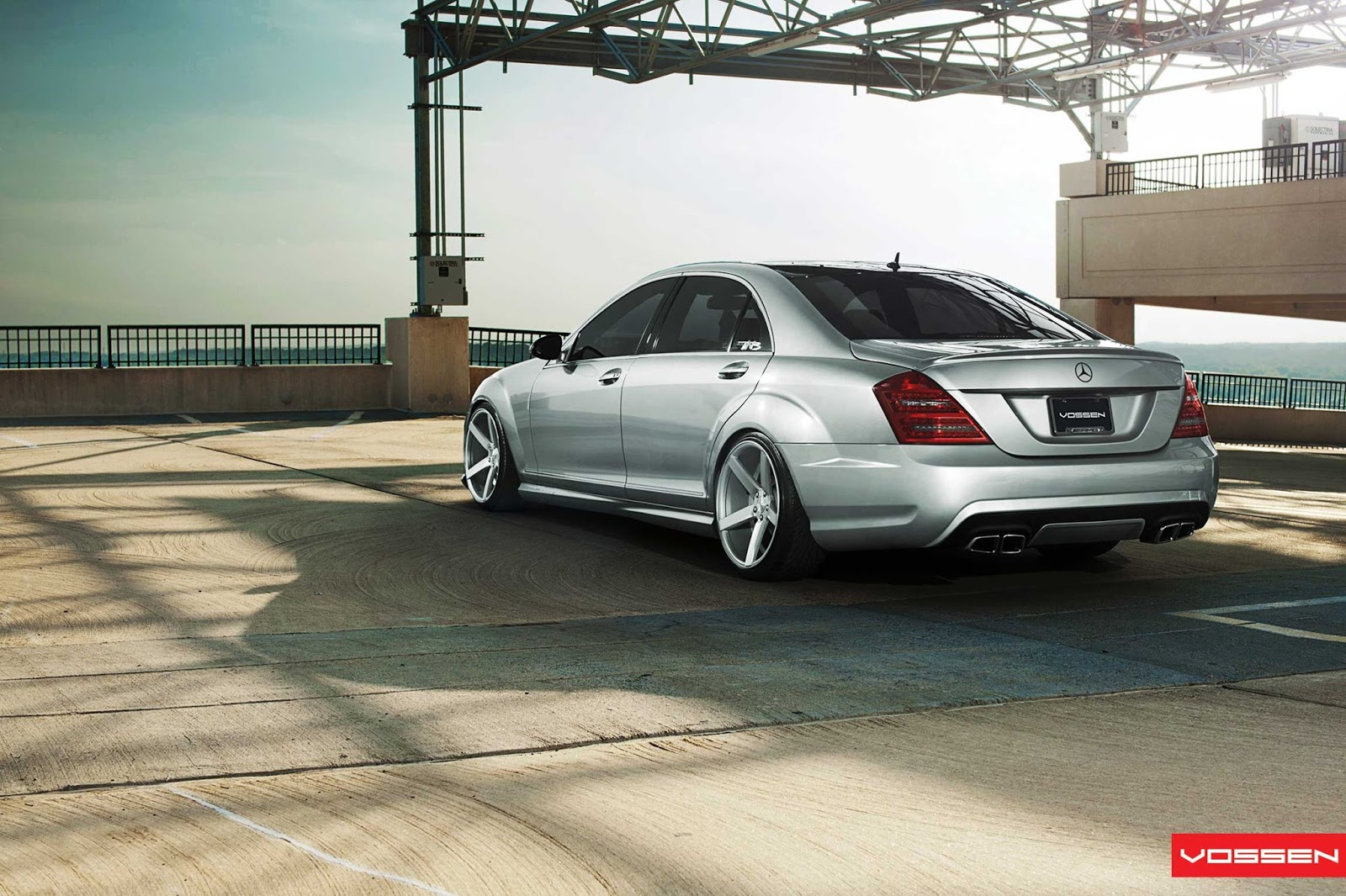 Mercedes Modified Cars Wallpapers Mercedes Benz W221 On Vossen Cv3 Wheels Benztuning