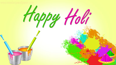 Happy Holi 3D Wallpapers