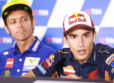 Rossi - Marquez Kini Sama-sama Tertekan