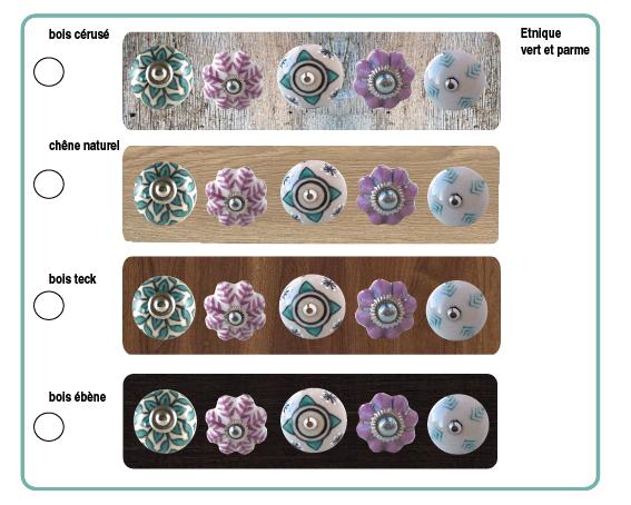 boutons de meubles atisanals ethnique