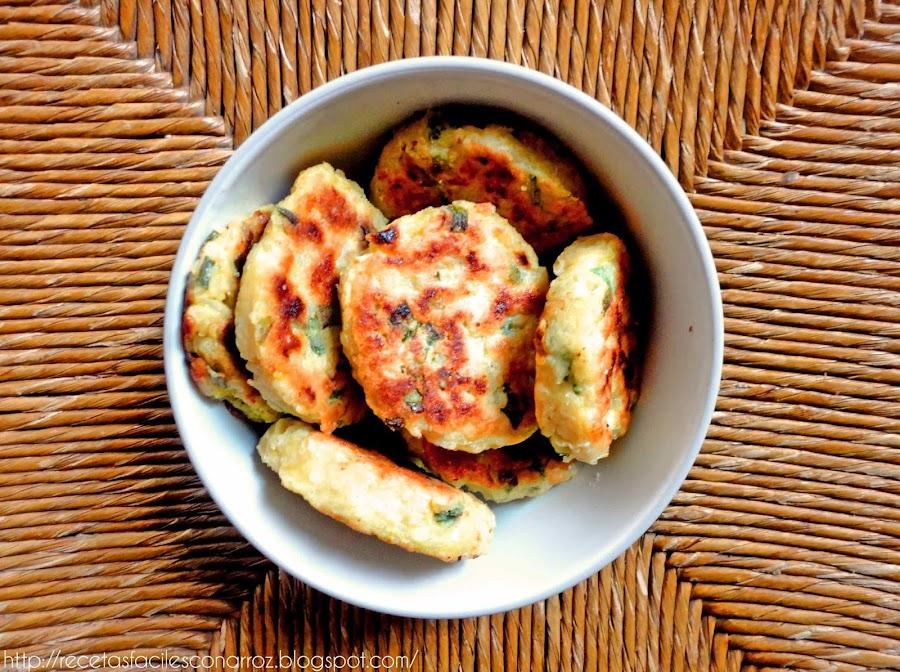 croquetas vegetarianas sin gluten de arroz y zapallitos