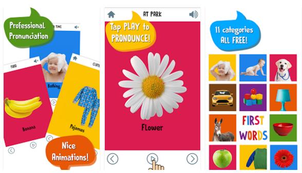 تطبيق First Words for Baby لتعليم الاطفال