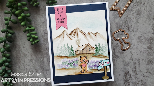 HM Valentine, WC Mountains, WC Cottage, Tombow Markers