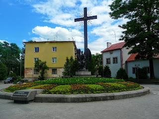 Дрогобич. Пам'ятник Борцям за волю в Україні на площі п'яти кутів