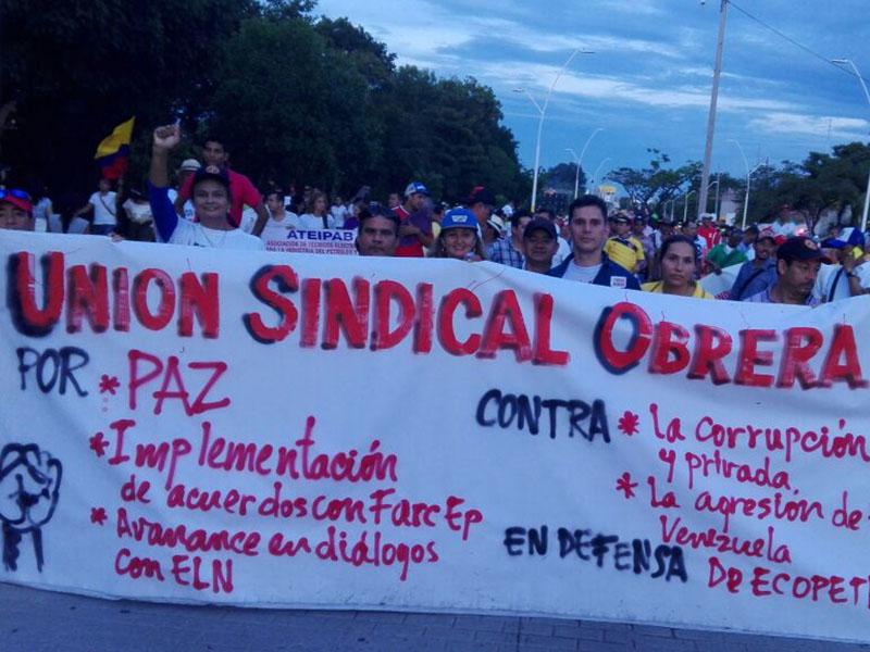 Barrancabermeja se unió en una gran marcha para salvar su refinería