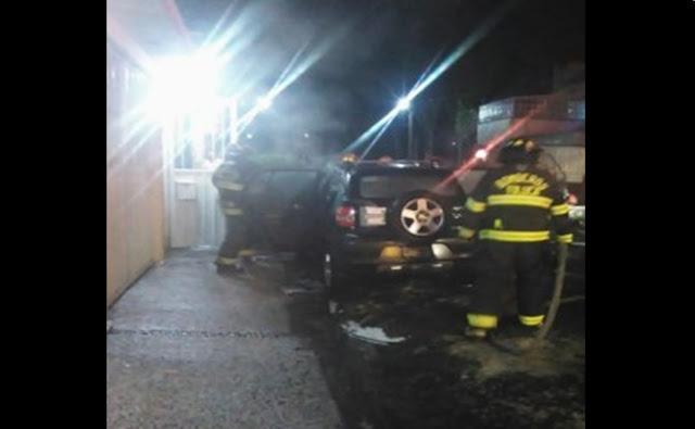 Auto, incendios, seguridad, fuego