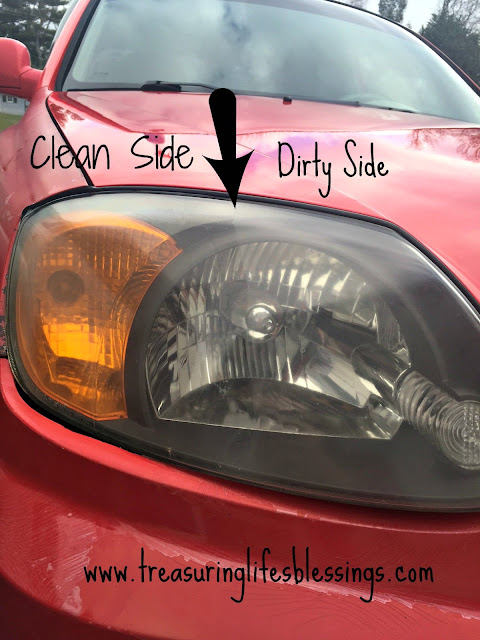 how to clean a foggy headlight