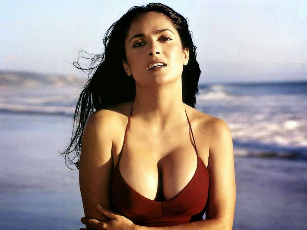 Salma Hayek Hot Body Red Dress