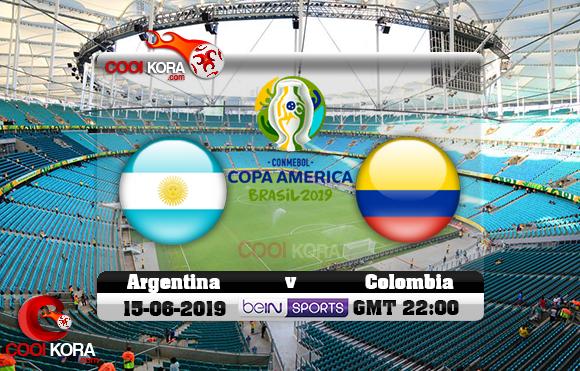 مشاهدة مباراة الأرجنتين وكولومبيا اليوم 15-6-2019 علي بي أن ماكس كوبا أمريكا 2019