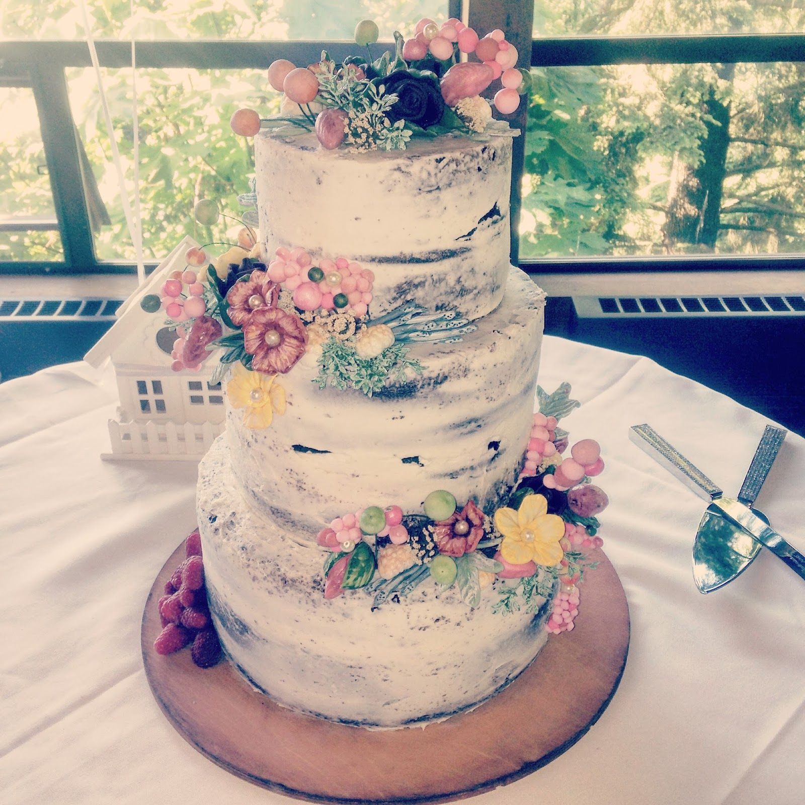 Love Your Cake  Succulent Wedding Cake Naked Floral Wedding Cake