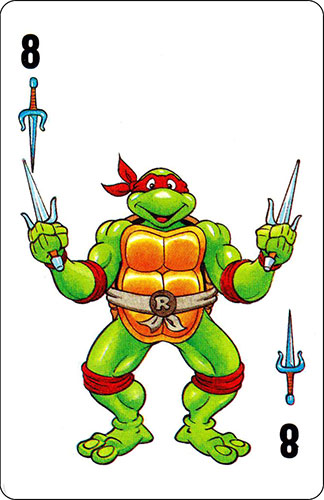 Baraja infantil Las Tortugas Ninja Fournier Carta Raphael 8