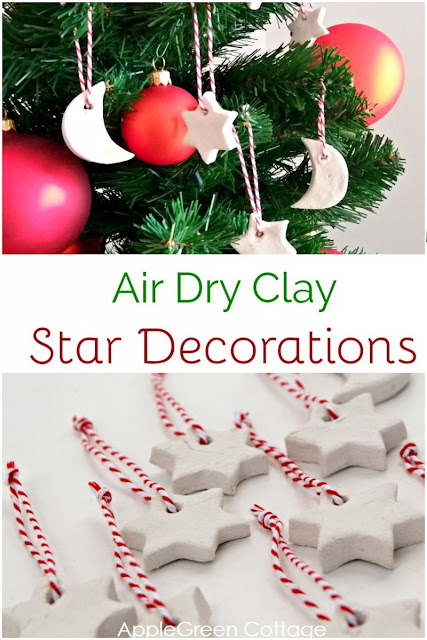 Air Dry Clay Christmas Decorations - Tutorial