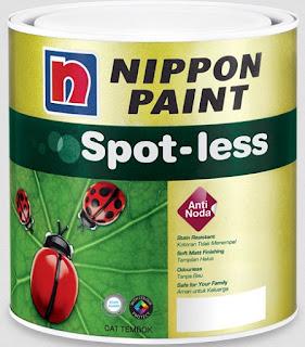 harga cat tembok nippon paint spotless