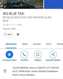 Setelah menghina indonesia, aplikasi big blue taxi malaysia kini terpuruk penilainya di playstore.