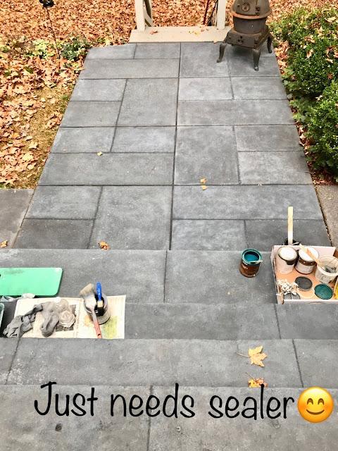 concrete patio DIY