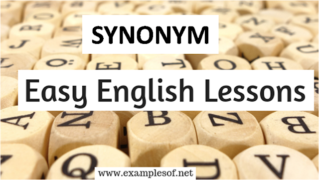 List of Synonyms