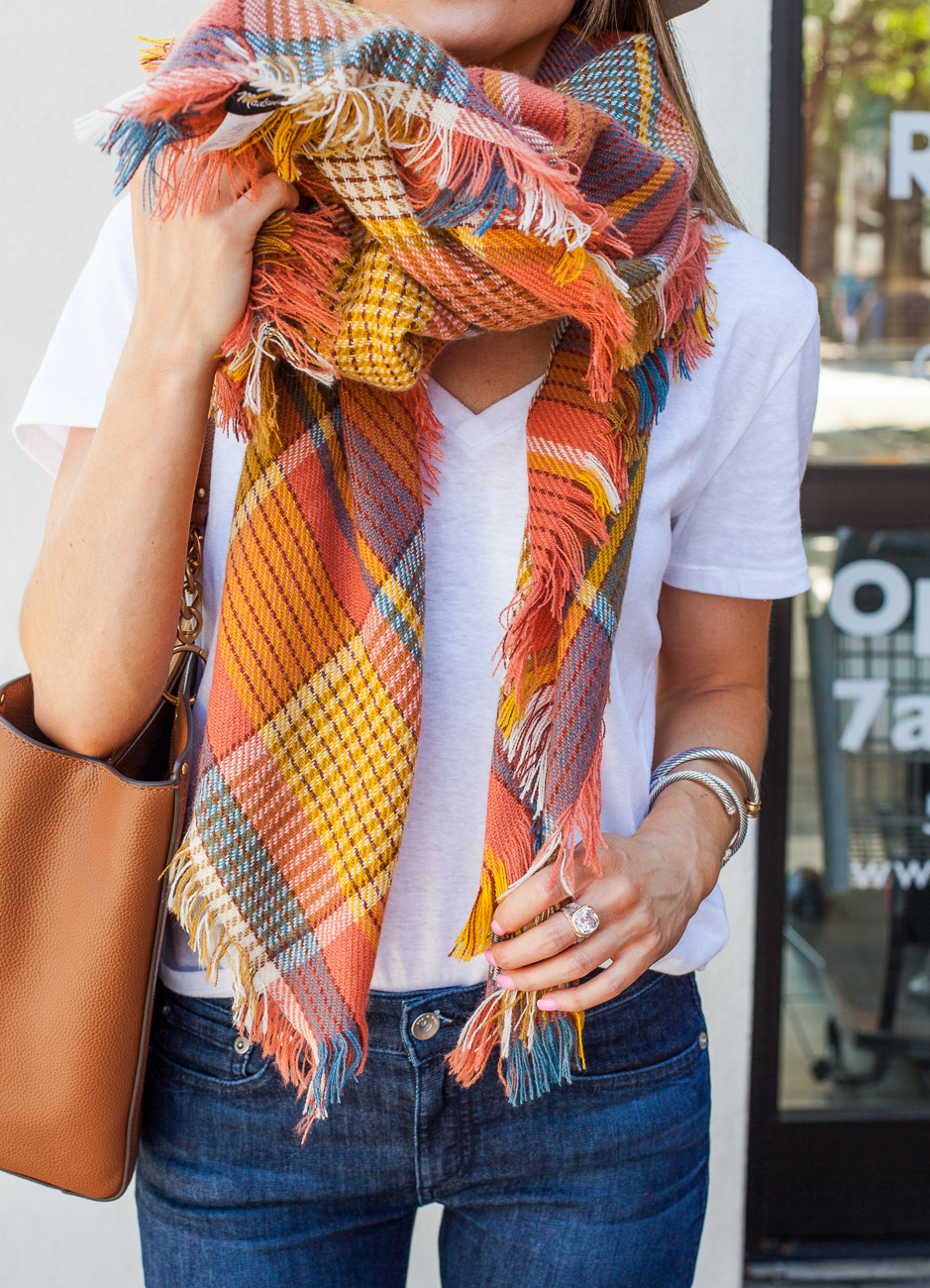 nordstrom madewell plaid blanket scarf