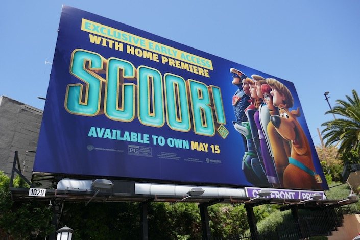 Scoob movie billboard