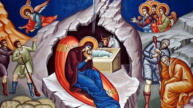 Η Παρθένος Σήμερον, Τον Προαιώνιον Λόγον, Εν Σπηλαίω Έρχεται, Αποτεκείν Απορρήτως